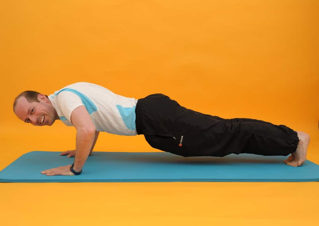 Rückenübungen - der Liegestütz