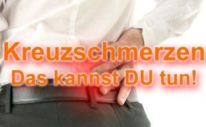 Kreuzschmerzen - Symptome, Ursachen, Diagnose, Behandlung, Übungen, Prävention