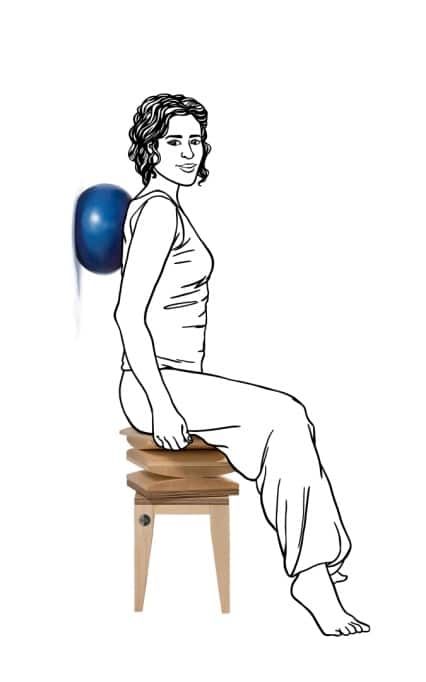 Orthopädischer Stuhl - elastischer Ball