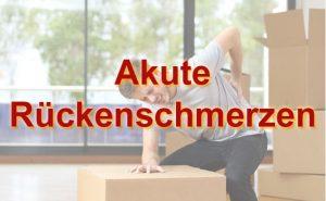 Akute Rückenschmerzen - Soforthilfe Tipps