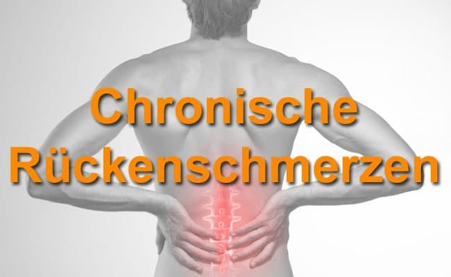 Chronische Rückenschmerzen endlich in den Griff kriegen