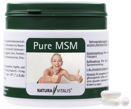 Nahrungsergänzungsmittel Rückenschmerzen Pure MSM