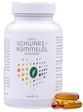 Nahrungsergänzungsmittel Rückenschmerzen - Echtes Schwarzkümmelöl